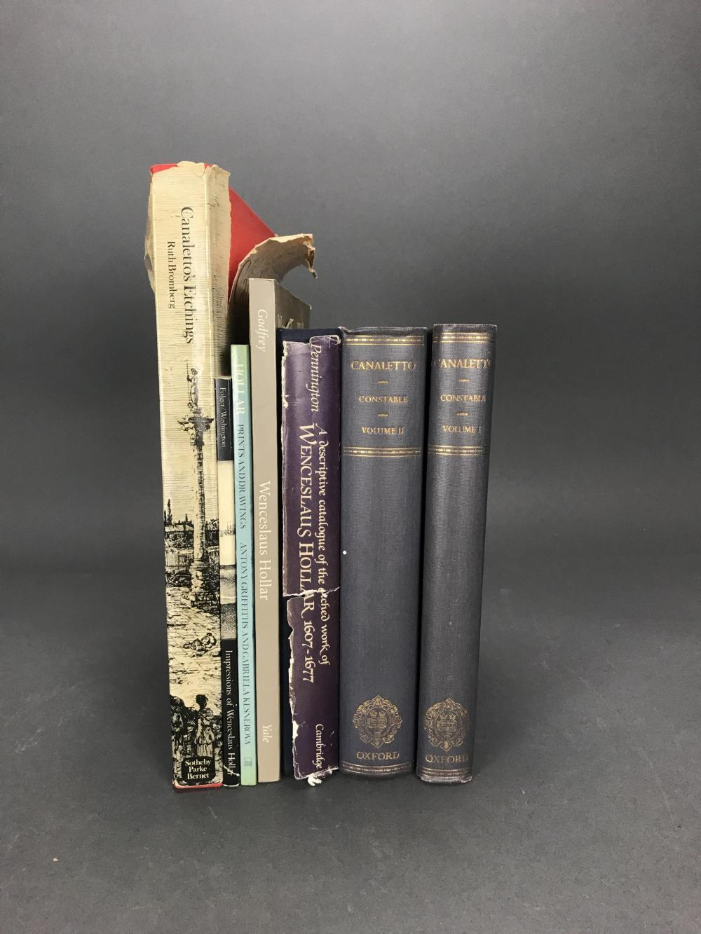 Lot 423: 7 Vols. Old Masters. Inc: Canaletto and Hollar.