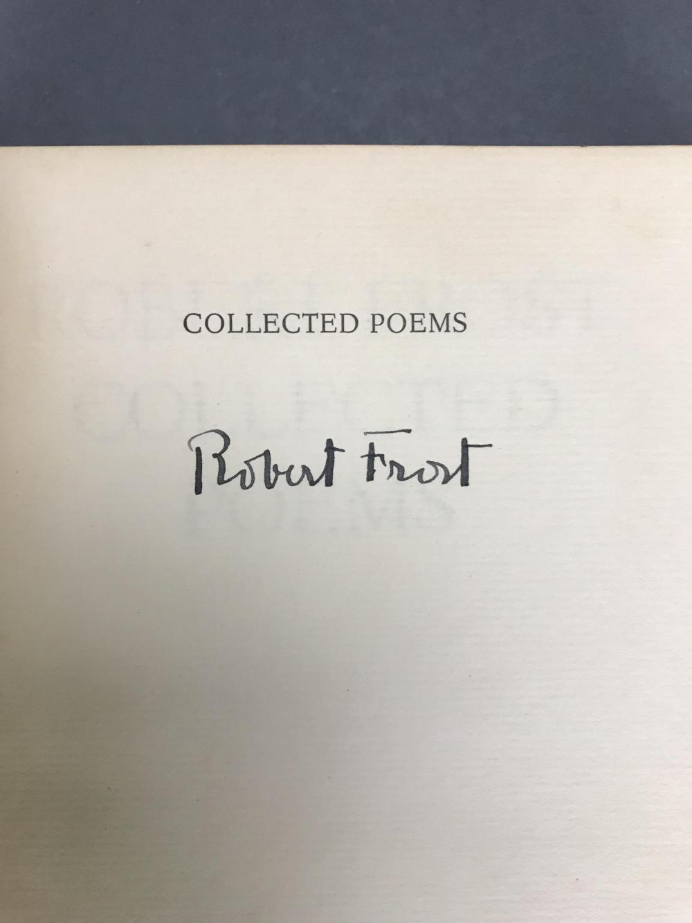 Lot 214: Frost. Collected Poems. 1930. #175/1000. Sgd.
