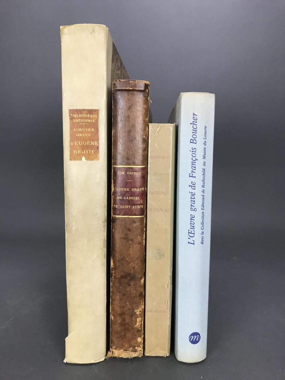 Lot 412: 4 vols. French Printmakers. Incl: Boucher, Bejot.