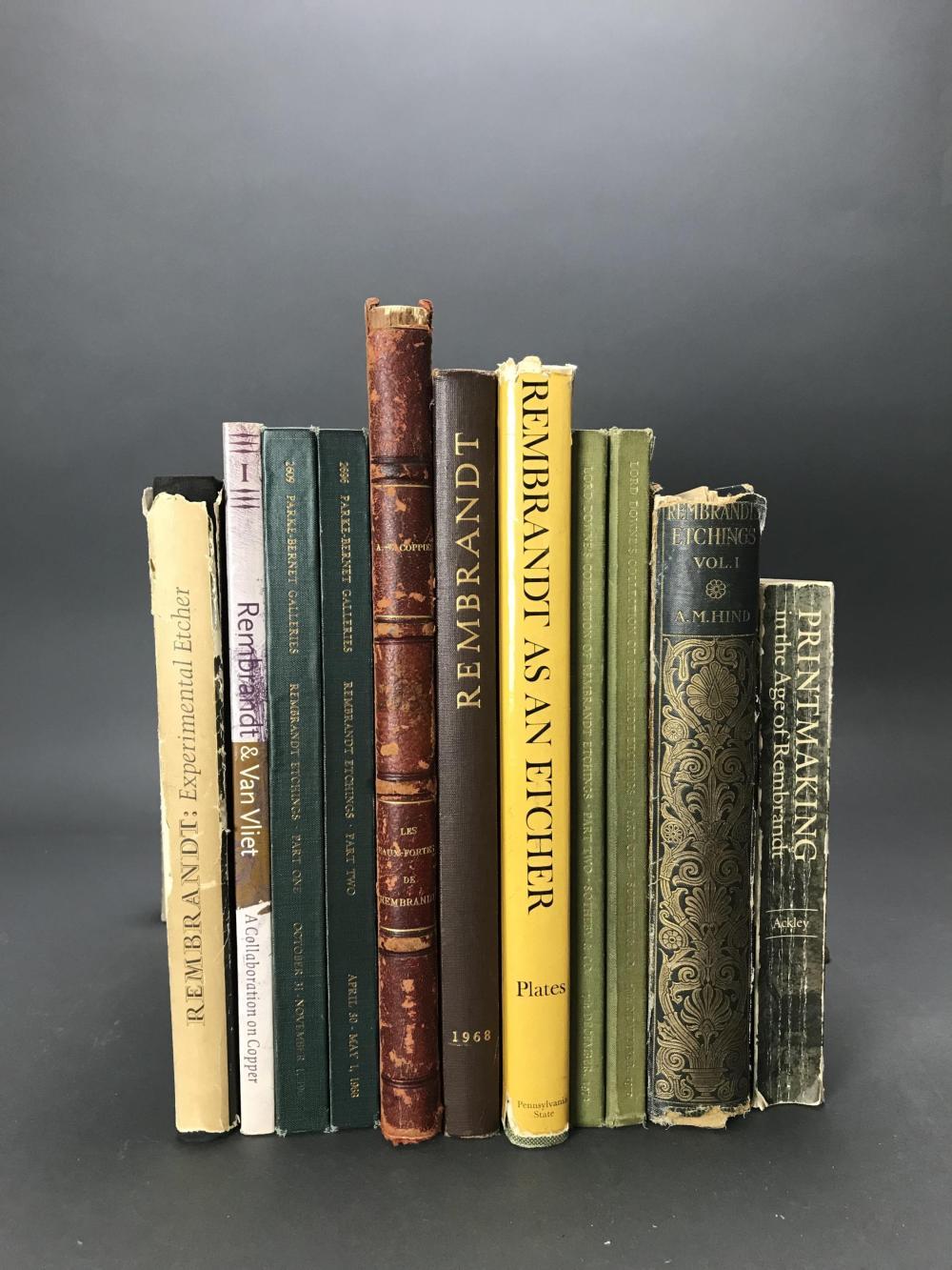 Lot 376: 11 vols. Rembrandt. Catalogue Raisonnes.