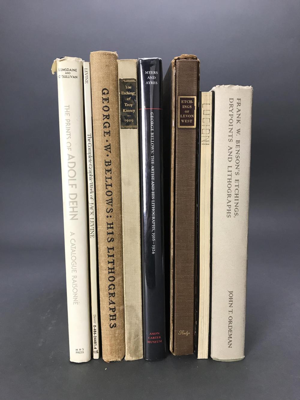 Lot 443: 8 vols. American Printmakers Catalogue Raisonnes.