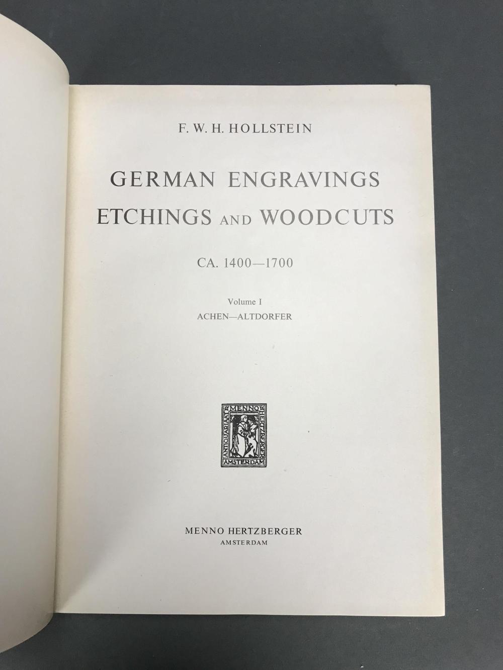 Lot 465: Hollstein. German Engravings. 24 vols.