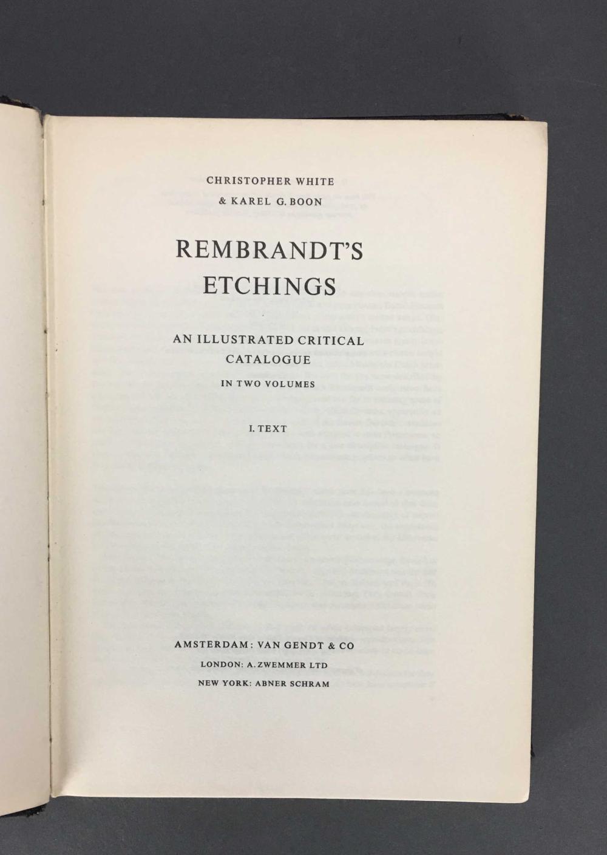 Lot 392: 4 vols. Rembrandt. Catalogue Raisonne.