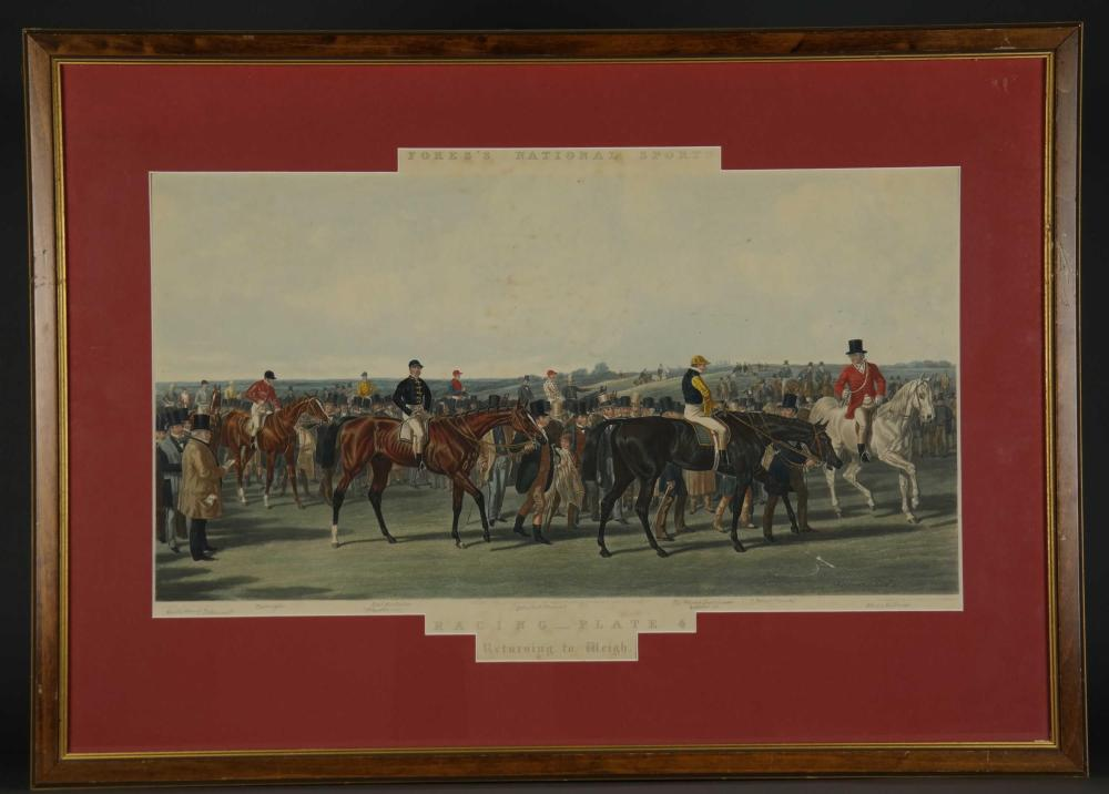 Lot 344: Fore's National Sports. Racing. 4 Plates.