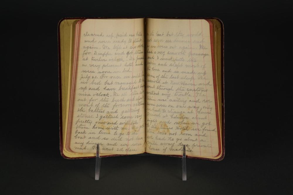 Lot 303: 3 19th c. Manuscript travel diaries. 1842-97.