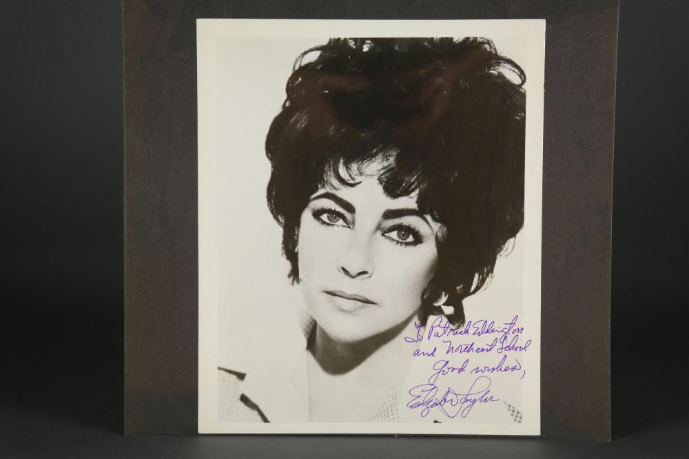 Signed photo of Elizabeth Taylor.
