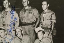 Lot 58: Photo of the Enola Gay Crew. Signed by 5.