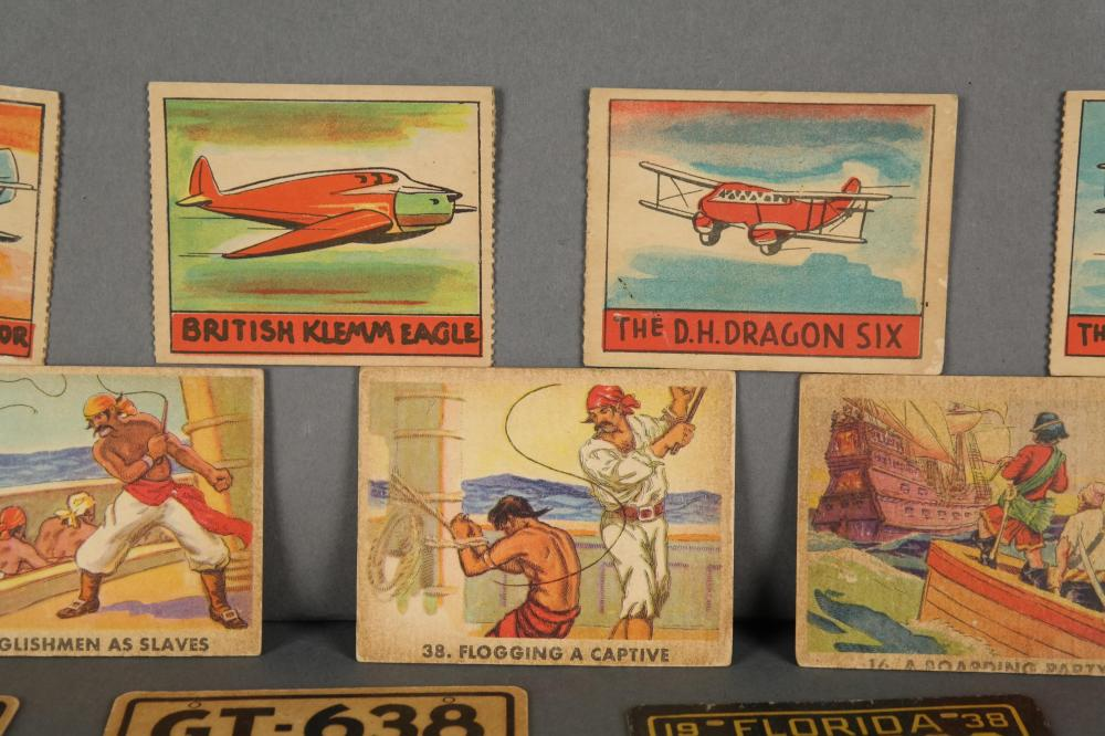Lot 327: Group of 118 Gum and misc cards. Incl: Dick Tracy.