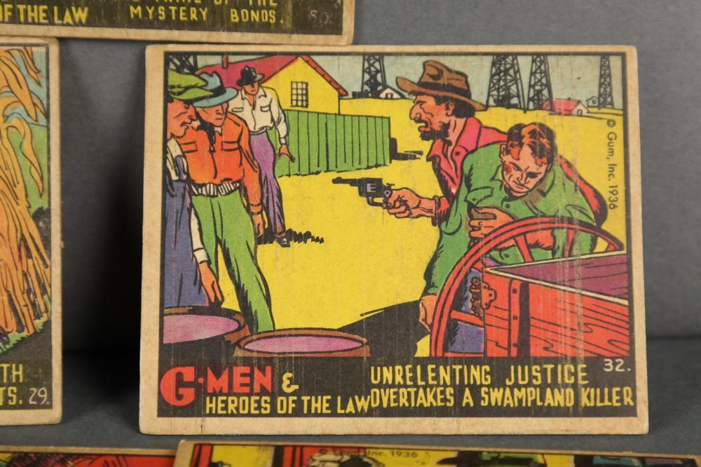 Lot 328: Group of 40 G-Men Gum Cards.