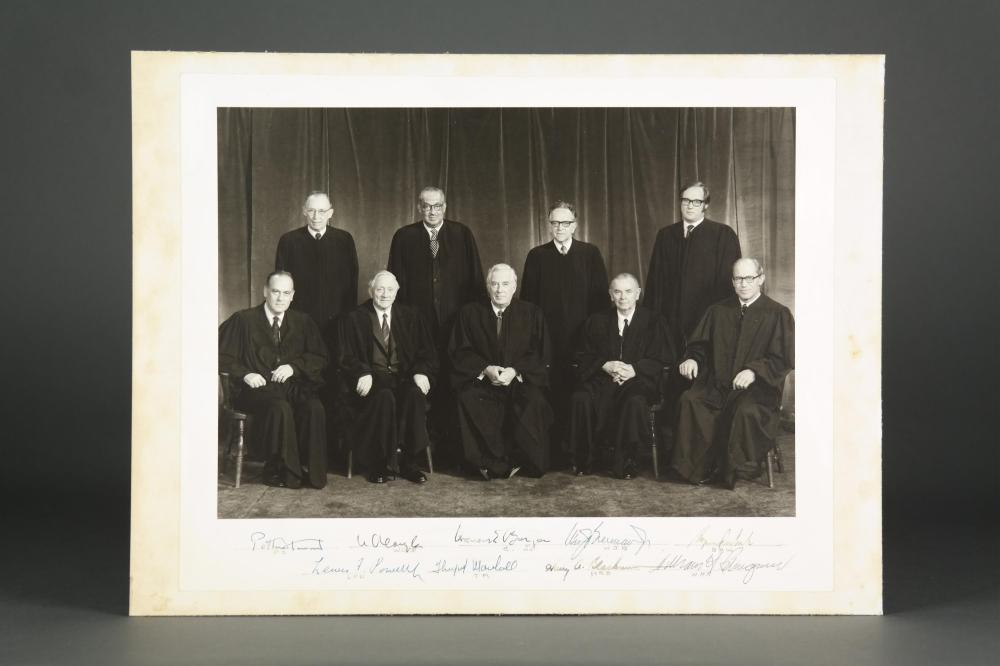 1972-75 Burger Supreme Court Photograph. Signed.