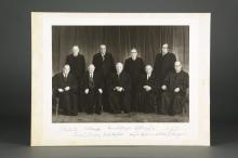 Lot 1: 1972-75 Burger Supreme Court Photograph. Signed.