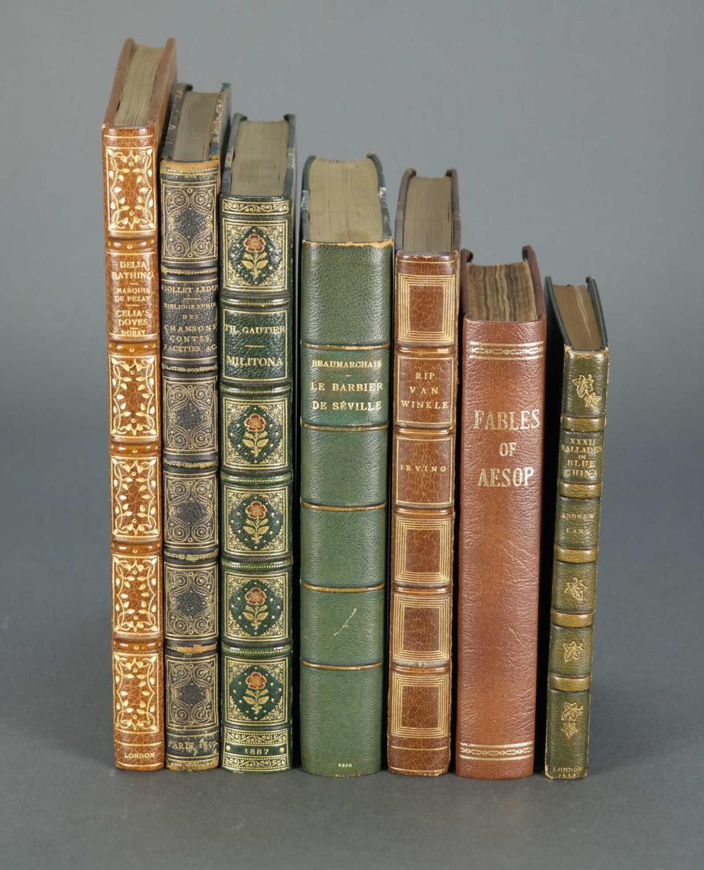 7 vols. Fine bindings. 18th-20th c.