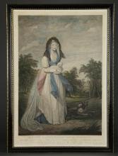 Lot 331: After Beechey. Queen Charlotte, King George. 1804.
