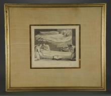 Lot 335: After Blake. Blair. The Grave. 2 Engravings. 1813.