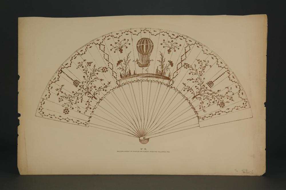 Lot 311: Schreiber. Fan and Fan Leaves. 1890.