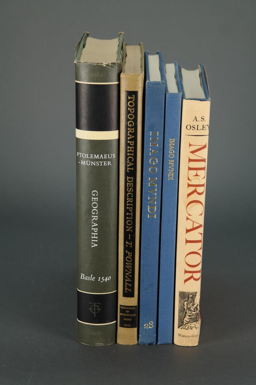 Lot 229: 5 vols on Geography and Cartography.