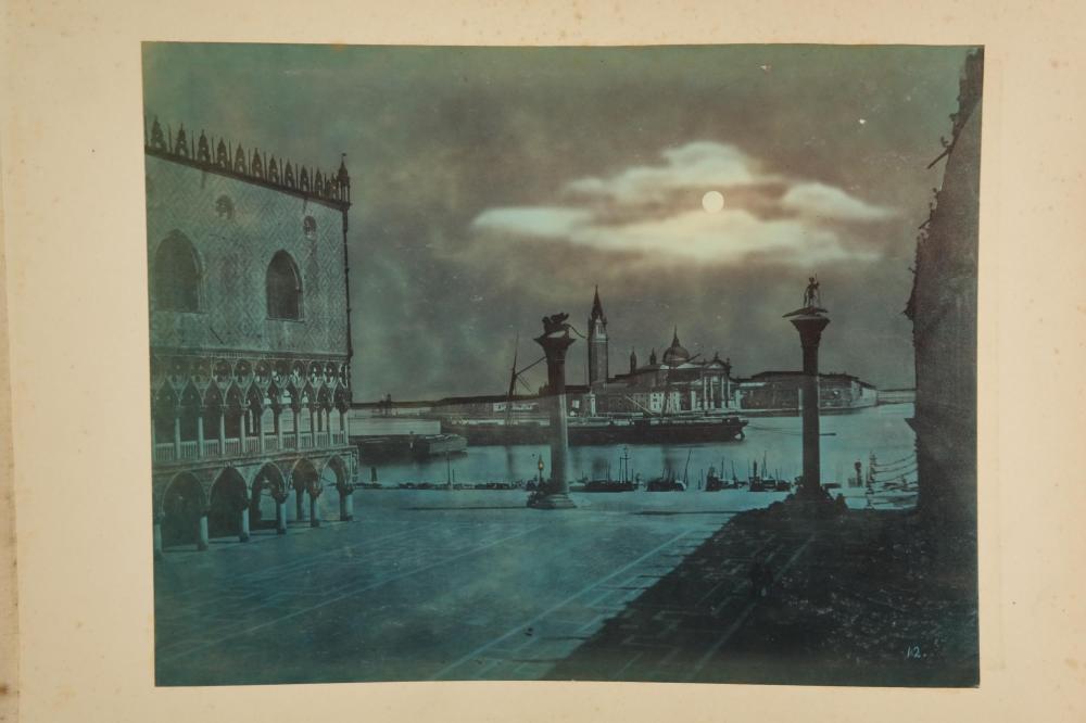 Lot 276: 2 photo albums of Europe. Inc: 3 cyanotypes.