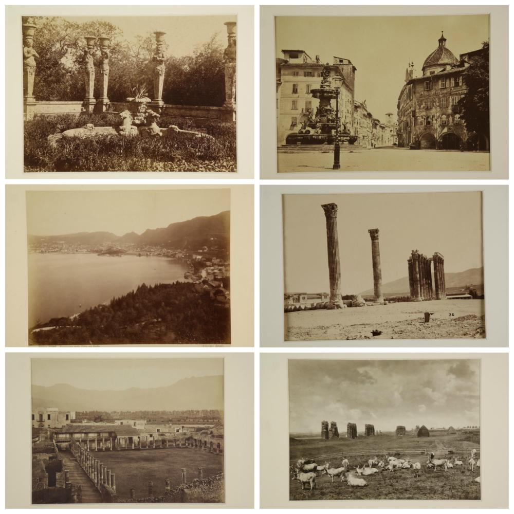 Lot 291: 20 Late 19th & early 20th c. photos of Italy/Art.