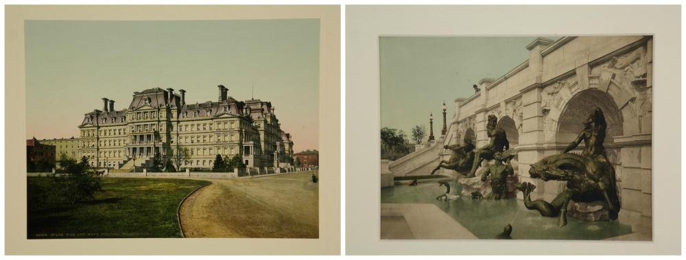 Lot 288: Late 19th & early 20th c. handcolored photos of DC