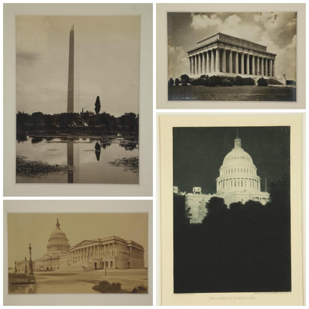 Lot 294: Late 19th & early 20th c. photos of DC Monuments.