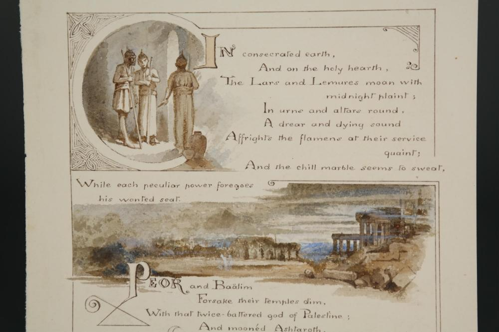 Lot 246: Milton. On the Morning of Christ's Nativity. n.d.