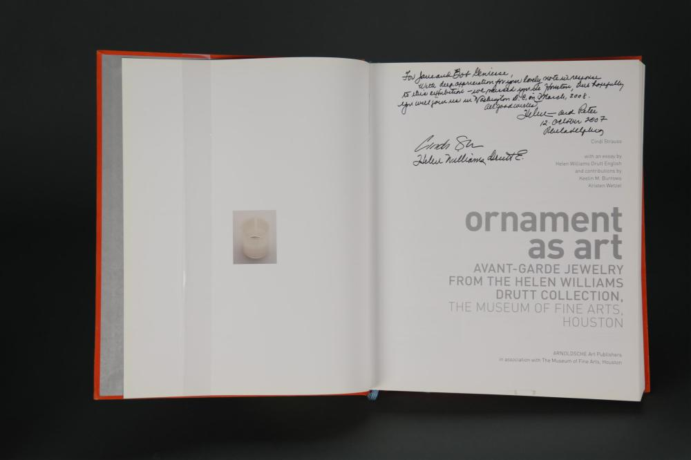 Lot 312: Strauss. Ornament as Art. 2007. Signed.