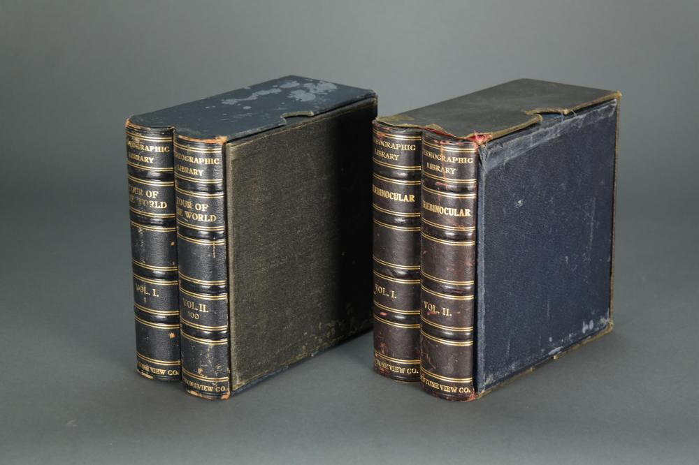 Lot 287: Stereoscope Viewer & 94 slides 2 boxes