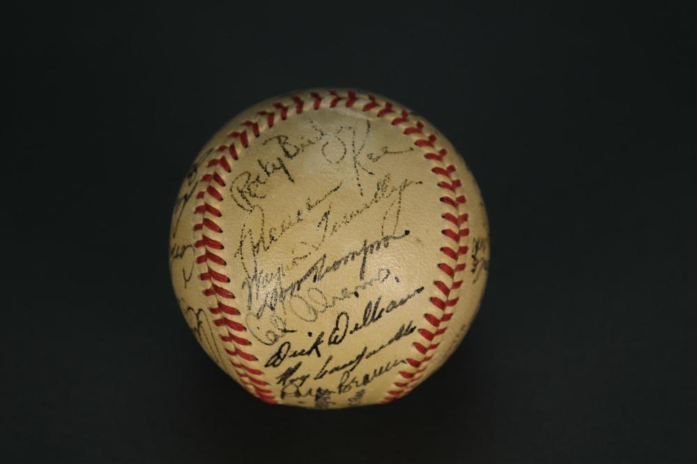 Lot 139: 1951 Dodgers Signed Baseball