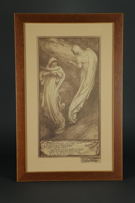 Vedder. Identity. Gelatin Print. 1880s. Signature.