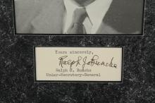 Lot 23: 2 Signed Pcs. Ralph Bunche, Booker T. Washington.