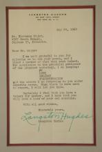 Lot 76: Langston Hughes. Typed Letter Signed.