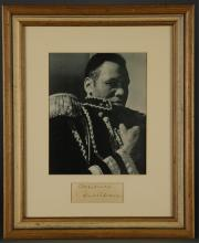 Lot 108: Paul Robeson. Clipped Signature.