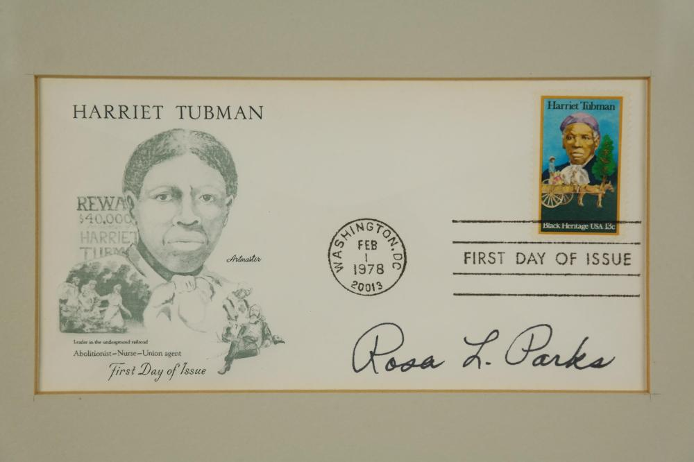 Lot 103: Rosa Parks. First Day Cover Signed.