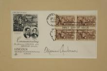Lot 12: Marian Anderson. First Day Cover, Signed.