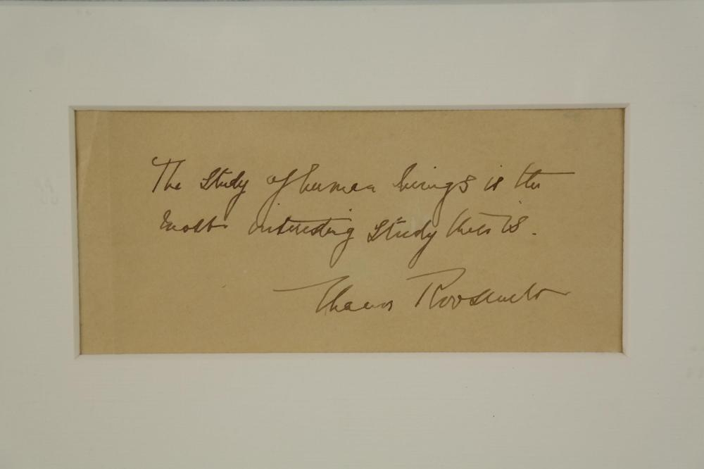 Lot 109: Eleanor Roosevelt. Autograph Sentiment Sgd.