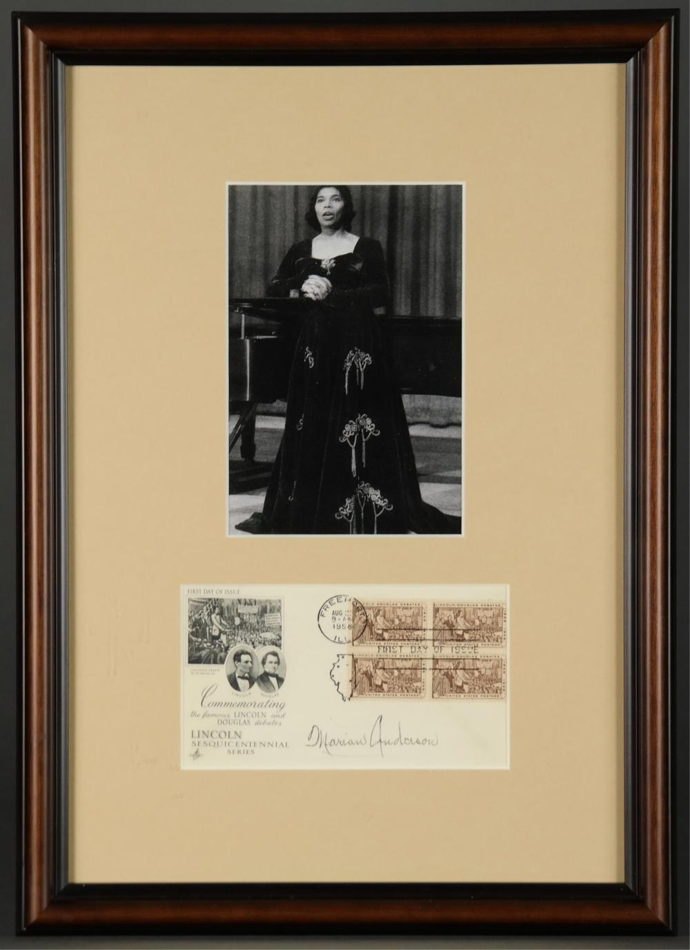Marian Anderson. First Day Cover, Signed.