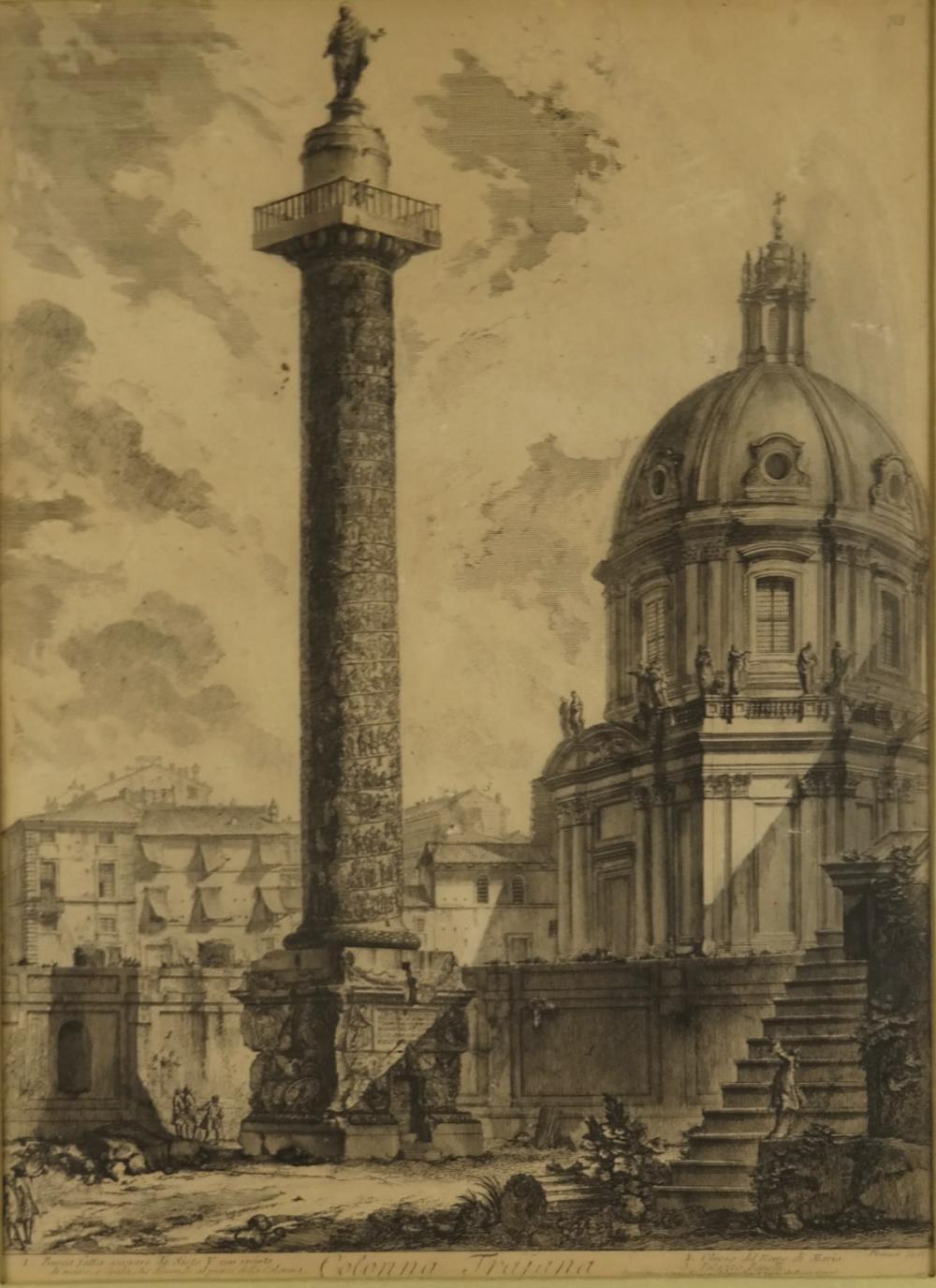Lot 356: Giovanni Piranesi. Colonna Trajana. 1778-1792.