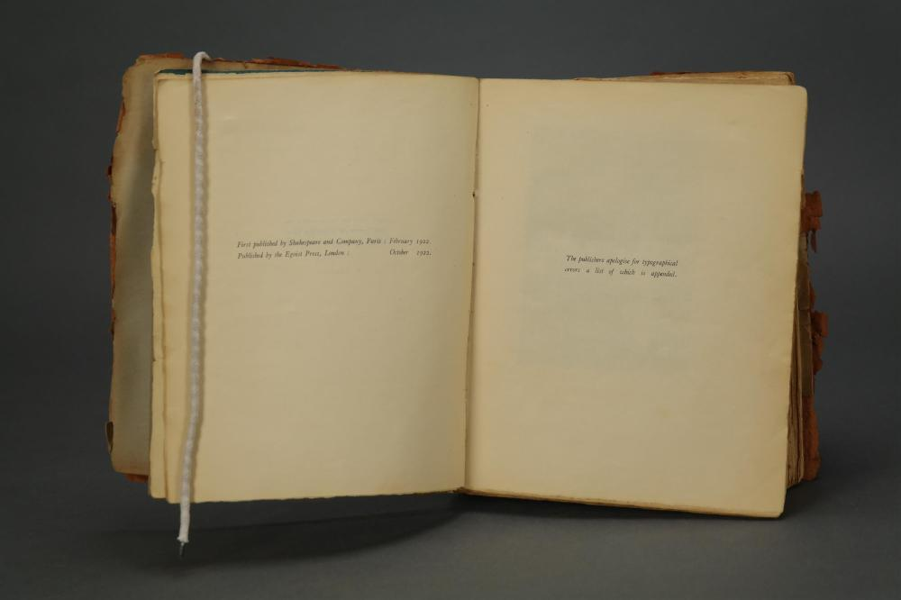 Lot 189: Ulysses. James Joyce. First British edition. 1922.