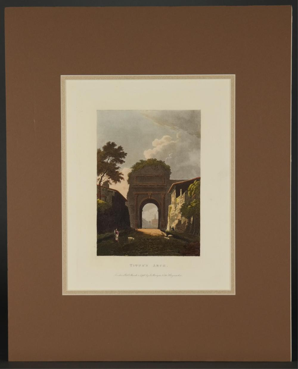 Lot 352: Merigot. Views and Ruins of Rome. 16 plates. 1797.