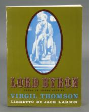 Lot 218: Virgil Thomson. Lord Byron Opera. 1st ed. Signed.