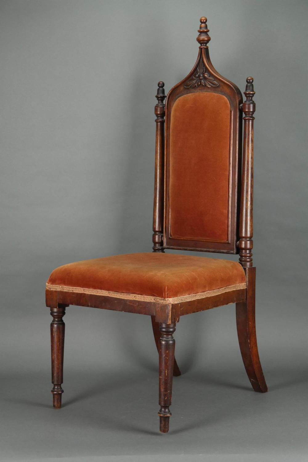 Lot 305: H. W. Longfellow's Personal Side Chair. c.1843.