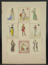 Lot 310: Matthaus Loder. Watercolor Costume Designs. c.1818
