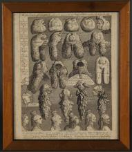 Lot 349: Hogarth. The Five Orders of Perriwigs. 1822.