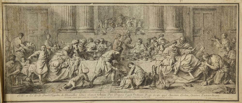 Lot 367: P. Subleyras. Christ in the House of Simon. 1738.