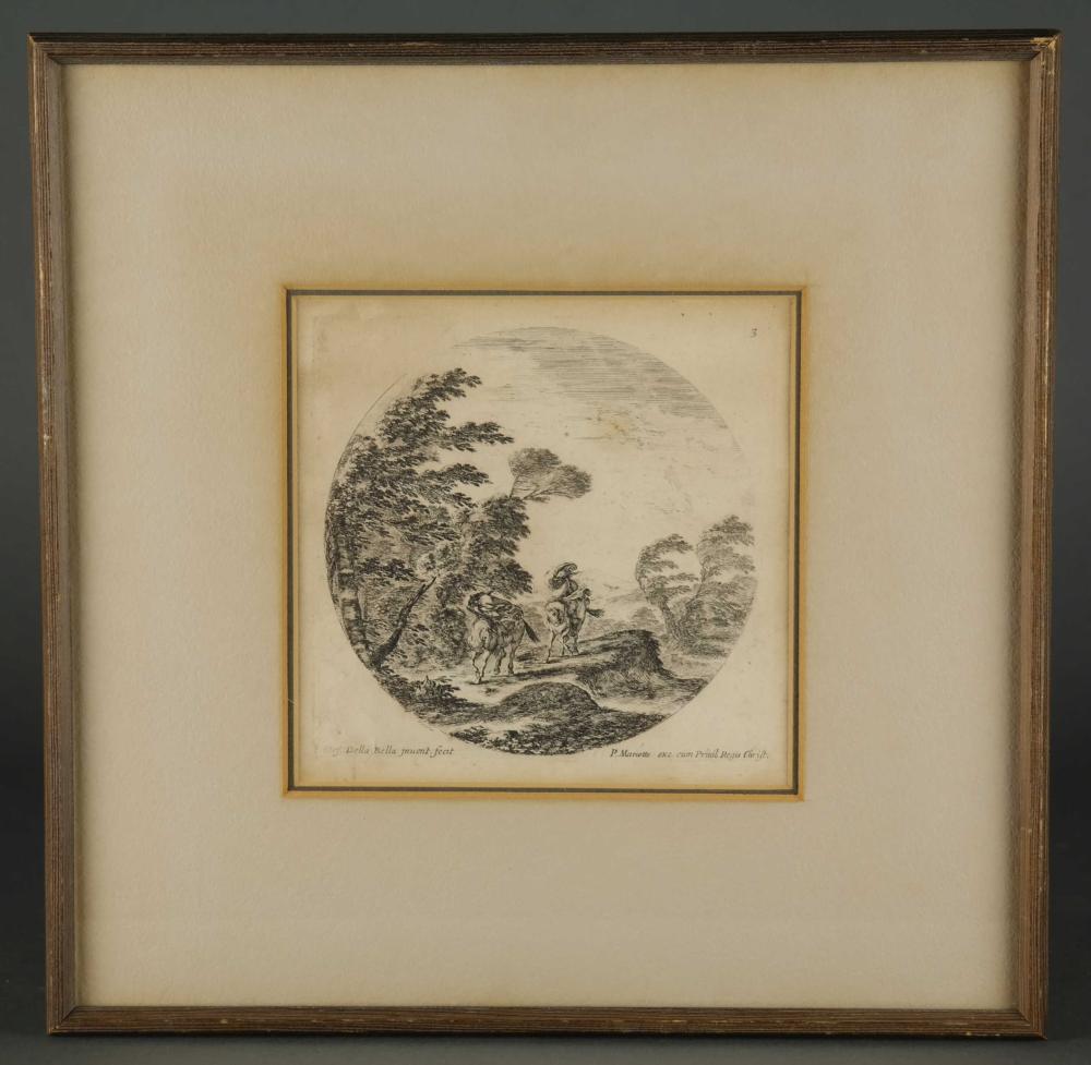 Lot 333: Stefano della Bella. A Gale in a Forest. 1646.