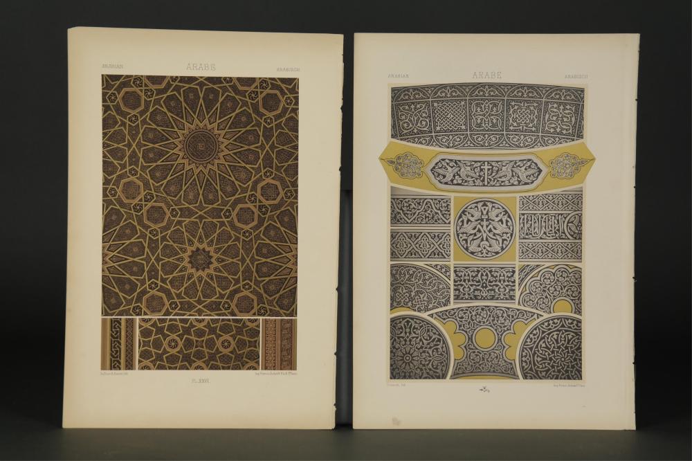 Lot 239: Racinet. L' Ornament Polychrome. Paris, 1869-87.