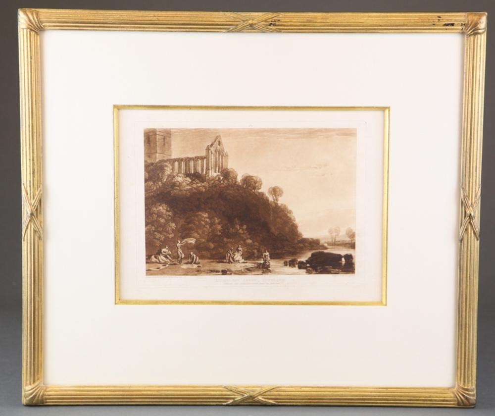 Lot 370: Turner. Dumblain Abbey + Brougham Castle. 19th c.
