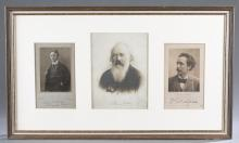Lot 44A: 2 Signed Pcs. Composers: Strauss, S. Wagner.