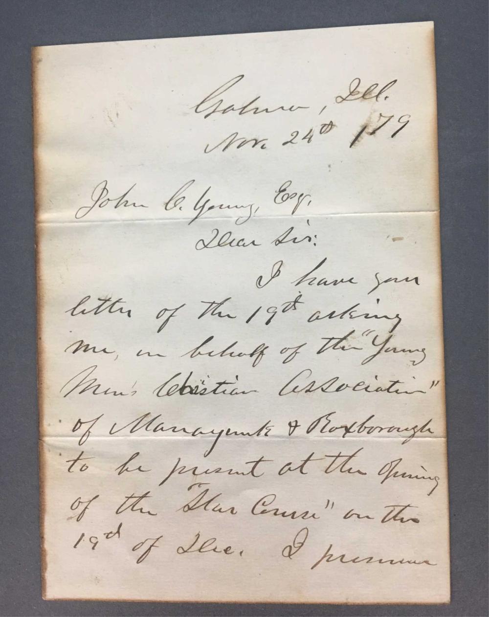 Lot 10A: Ulysses S. Grant. ALS. 1879.