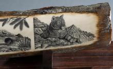 Charles Conner, Mountain Lions, Mammoth ivory.